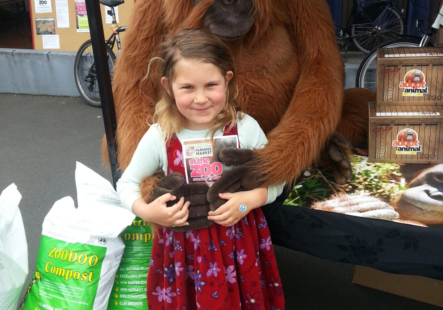 Issy Jacobs with the Auckland Zoo Orangutan